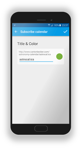 Set title and color to distinguish different calendars